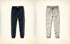 NWT Hollister by Abercrombie Textured Knit Joggers Sweatpants XS S M Navy Gray