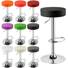 Faux Leather Bar Stools set of 2 Kitchen Breakfast Chrome Stools Chair u018