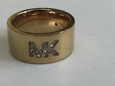 Michael Kors Ring $85 Size 7 Gold Tone Store Display With Out Tags MKJ46907109