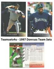 1997 Donruss Baseball Team Sets ** Pick Your Team Set **