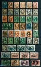 Small Collection of Used US Stamps bearing Interesting Cancellations