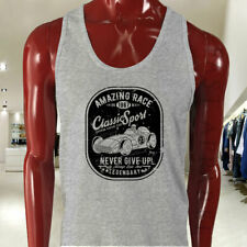 VINTAGE SPORT CAR RACING CLASSIC SPEED LEGENDARY Mens Gray Tank Top