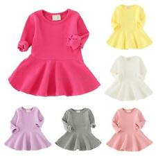 Toddler Kid Baby Girl Clothes Long Sleeve Princess Party Pageant Tutu Dress 1-4T
