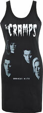 LADIES BLACK DRESS THE CRAMPS GRAVEST HITS ALBUM GARAGE PSYCHOBILLY S-XL