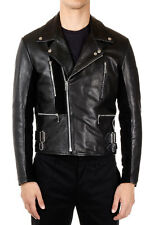 MARTIN MARGIELA MM10 Men Black Padded Leather Jacket Made in Italy New