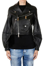 DSQUARED2 Dsquared² Women Black Leather Biker Jacket New with Tag Original