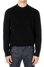 MARTIN MARGIELA MM14 Men Black Wool Mixed Knitted Sweater Made in Italy