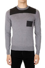 MAISON MARTIN MARGIELA MM14 New Man Grey Crewneck Wool cotton Sweater NWT