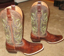 New Mens ARIAT Turnback All Leather Cowboy Boots sz 8.5 EE