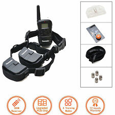 300 Yard LCD 100LV Shock Vibra Electric Remote Training Collar For S/M/L Dogs
