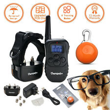 OWNPETS Rechargeable 330 Yards Pet Dog Shock Training Collar Electric LCD Remote