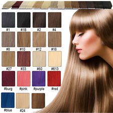 "guarantee 100% human hair tape skin hair extensions 16""18""20""22""24""26"" Straight"