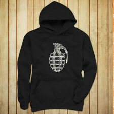 VINTAGE GRENADE ARMY MILITARY SPECIAL FORCES BOMB Womens Black Hoodie