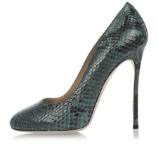 DSQUARED2 D2 New Woman green python Leather Pumps Decollettes Shoes Made Italy
