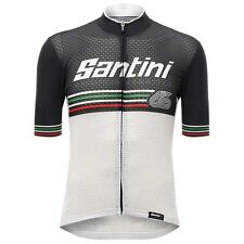 2017 Beat Cycling Jersey in White - Made in Italy by Santini