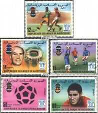 Mauritania 584-588 (complete issue) used 1977 Soccer-WM ´78,