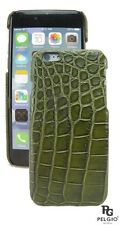 PELGIO Genuine Crocodile Belly Skin Leather iPhone 7 Hard Case Back Cover Green