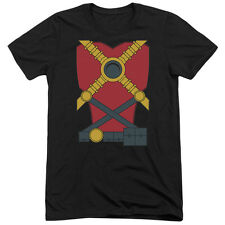 Justice League Red Robin Mens Tri-Blend Short Sleeve Shirt BLACK