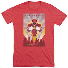 Power Rangers Red Deco Mens Tri-Blend Short Sleeve Shirt RED