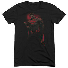 Superman Red Son Mens Tri-Blend Short Sleeve Shirt BLACK