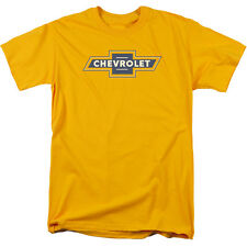 Chevy Blue And Gold Vintage Bowtie Mens Short Sleeve Shirt Gold