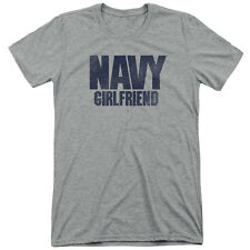 Navy Girlfriend Mens Tri-Blend Short Sleeve Shirt ATHLETIC HEATHER