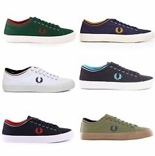 Fred Perry Kendrick Tipped Cuff Canvas Mens Lace Up Casual Trainers