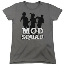 Mod Squad Mod Squad Run Simple Womens Short Sleeve Shirt Charcoal