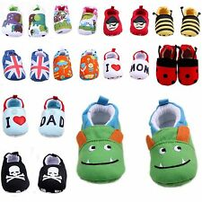 Newborn Baby Infant Crib Shoes Slippers Soft Sole Non Slip 0-12 Months Mixed