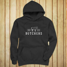 BUTCHERS COW BEEF CARNIVORE MEAT SLAUGHTER FOOD Womens Charcoal Hoodie