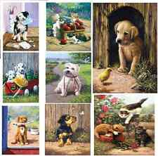 PICK FROM 16 DOGS CATS KITTENS PUPPIES PAINT BY NUMBER ACRYLIC PAINTING KITS