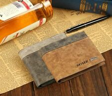 Mens fauxLeather Bifold Wallet ID Business CreditCard Holder Purse Clutch Pocket
