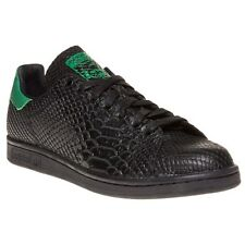 New Mens adidas Black Stan Smith Decon Leather Trainers Court Lace Up