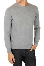 CRUCIANI New Men grey Cashmere Sweater Round Neck Pullover Made in Italy