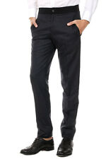 LANVIN New Men Grey Wool super 120's Slim Fit Pants trousers Made in Italy