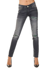 DON'T CRY New Woman Grey Skinny Stretch Denim APRIL Jeans Pants Made in italy