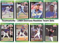 1989 Donruss Rookies Baseball Set ** Pick Your Team **