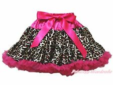 Hot Pink Leopard FULL Pettiskirt Skirt Dance Tutu 1-8Y
