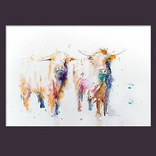 JEN BUCKLEY signed LIMITED EDITON PRINT of my original Highland Cows