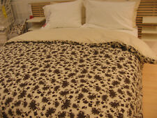 IKEA Ransby Duvet COVER Pillowcase Set BROWN Beige FLORAL Leaf MID CENTURY Retro