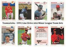 1991 Line Drive AAA Minor League Baseball Team Sets ** Pick Your Team Set **