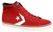 Converse All Star Womens Hi Top Trainers Casual Lace Up Red Suede 140117C D84