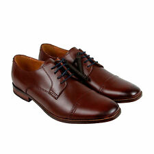 Clarks Narrate Cap Mens Brown Leather Casual Dress Lace Up Oxfords Shoes