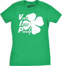 Womens Very Irish Person Funny VIP St. Patrick's Day Lucky Clover T shirt