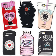 3D Cute Cartoon Soft Silicone Case Cover Back Skin For iPhone 5 SE 6s 7 Plus