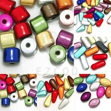 Mixed Acrylic Miracle Beads 3D Illusion Spacer Cylinder/Teardrop/Oval/Capsule