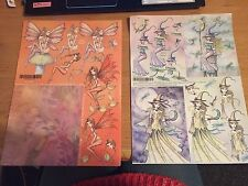 MOLLY HARRISON FANTASY FAIRY DECOUPAGE - A4 SHEET