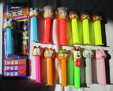 Set of 13 GARFIELD PEZ Dispensers 6 Different Garfields + Odie NERMAL Arlene