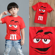 Personalised Boy Tee Age 2-7Y Kids Summer Short Sleeve T-shirt Tops