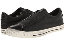 New Converse X John Varvatos Burnished Suede Slip Black 147346c Leather Shoes
